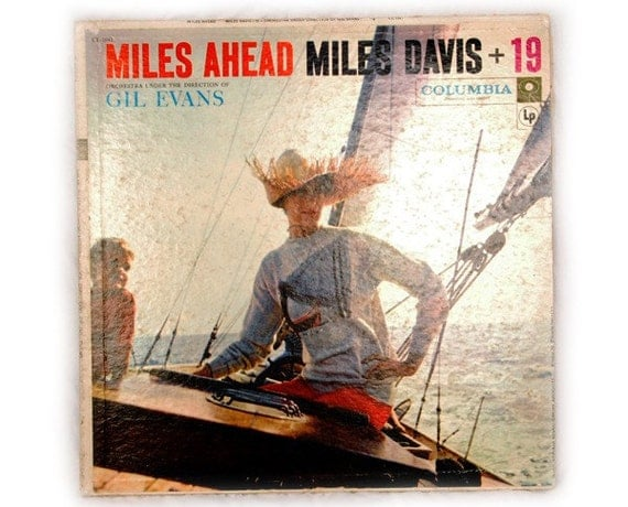 Vintage, Miles, Davis, ahead, record, album, vinyl, six, eye, columbia, woman, boat, jazz, CL1041, Mono, 1957, 1950s