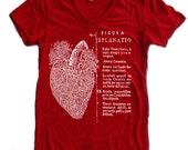 Women's Vintage ANATOMICAL HEART t shirt american apparel  S M L XL (17 Colors Available)