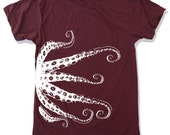 Mens OCTOPUS t shirt american apparel S M L XL (17 Colors Available)