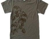 Mens HOPS t shirt american apparel S M L XL (15 Color Options)
