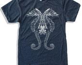 Mens SEAHORSE american apparel T-shirt S M L XL (17 Colors Available)