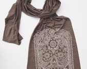 Scarf SUGAR SKULL Unisex Tri-Blend Jersey Extra Long Scarf (4 Color Options)
