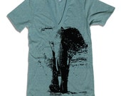 Unisex ELEPHANT Deep V-Neck american apparel T Shirt  XS S M L XL (9 Colors Available)