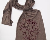 Scarf LOTUS FLOWER Sheer Jersey Tri-Blend american apparel (4 Colors Available)