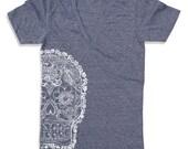 Unisex DAY Of The DEAD 2 Deep V Neck t shirt   XS S M L  (Color Options)