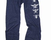 Womens BEES : Eco NAVY Heather Alternative Earth Drawstring Pants (S M L or XL)
