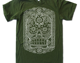 Mens DAY of the DEAD american apparel T-shirt s m l xl xxl (17 Colors)