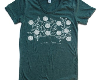Womens VINTAGE TREE american apparel tee S M L XL (17 Colors Available)