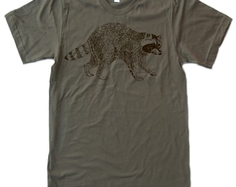 Mens RACCOON T Shirt american apparel S M L XL (11 Colors Available)