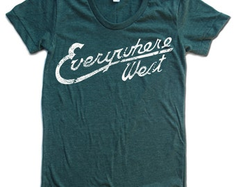 Womens WEST COAST T-Shirt american apparel S M L XL (17 Colors Available)