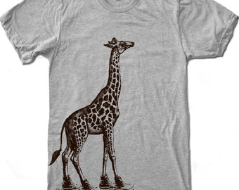 Mens GIRAFFE (in High Tops) american apparel t shirt S M L XL (17 Color Options)