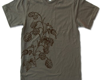 Mens HOPS t shirt american apparel S M L XL (15 Color Options)