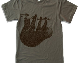 Mens Tree SLOTH T Shirt  s m l xl xxl (+ Color Options)