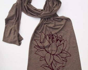 Scarf LOTUS FLOWER Sheer Jersey Tri-Blend american apparel (3 Colors)