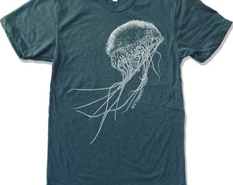 Mens JELLYFISH T-Shirt american apparel S M L XL (17 Colors Available)