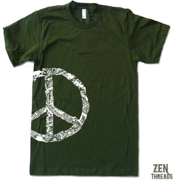 Mens PEACE SIGN T Shirt s m l xl xxl (+ Color Options)