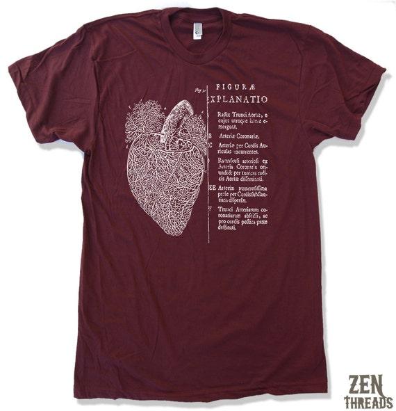 Mens Vintage ANATOMICAL HEART american apparel T-Shirt S M L XL (17 Colors Available)