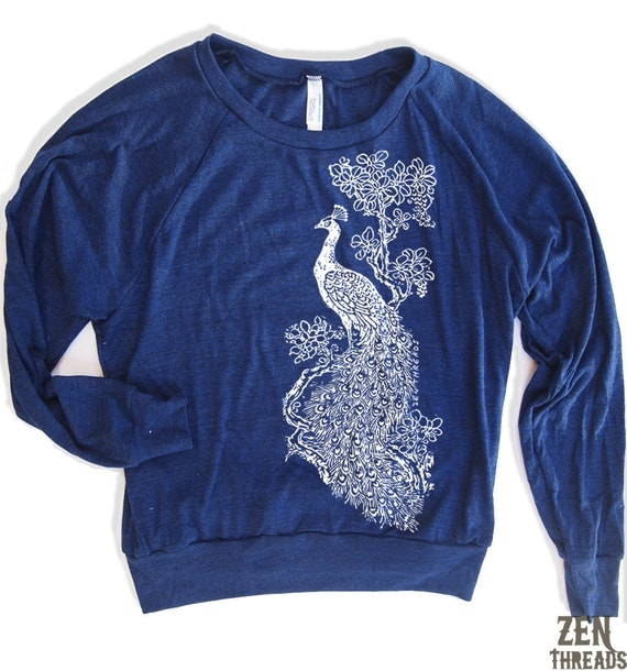 Womens PEACOCK Tri-Blend Pullover - american apparel S M L (8 Colors)