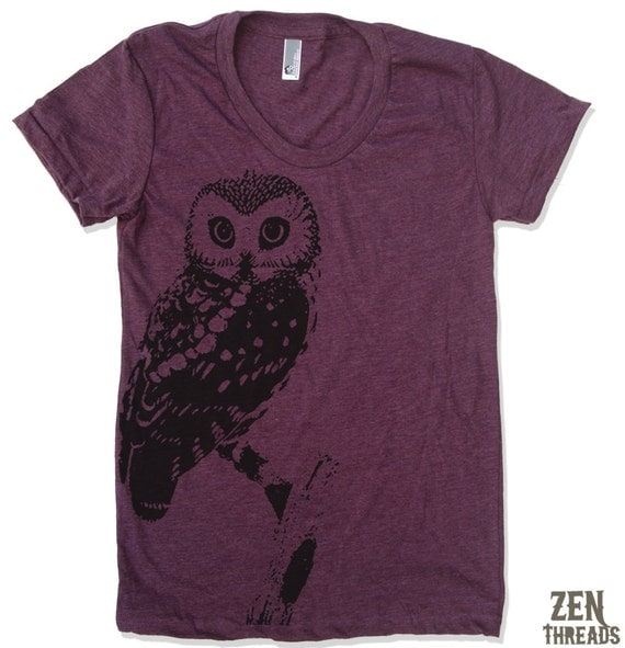 Womens OWL vintage soft american apparel T Shirt S M L XL (16 Colors Available)