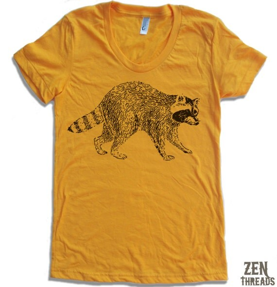 Womens Urban RACCOON T Shirt american apparel S M L XL (15 Colors Available)