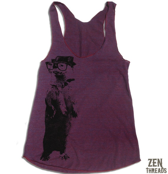 Womens OTTER american apparel Tri-Blend Racerback Tank Top S M L (10 Color Options)