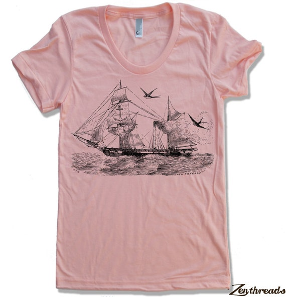 Womens Vintage STEAMSHIP t shirt S M L XL american apparel (17 Colors Available)