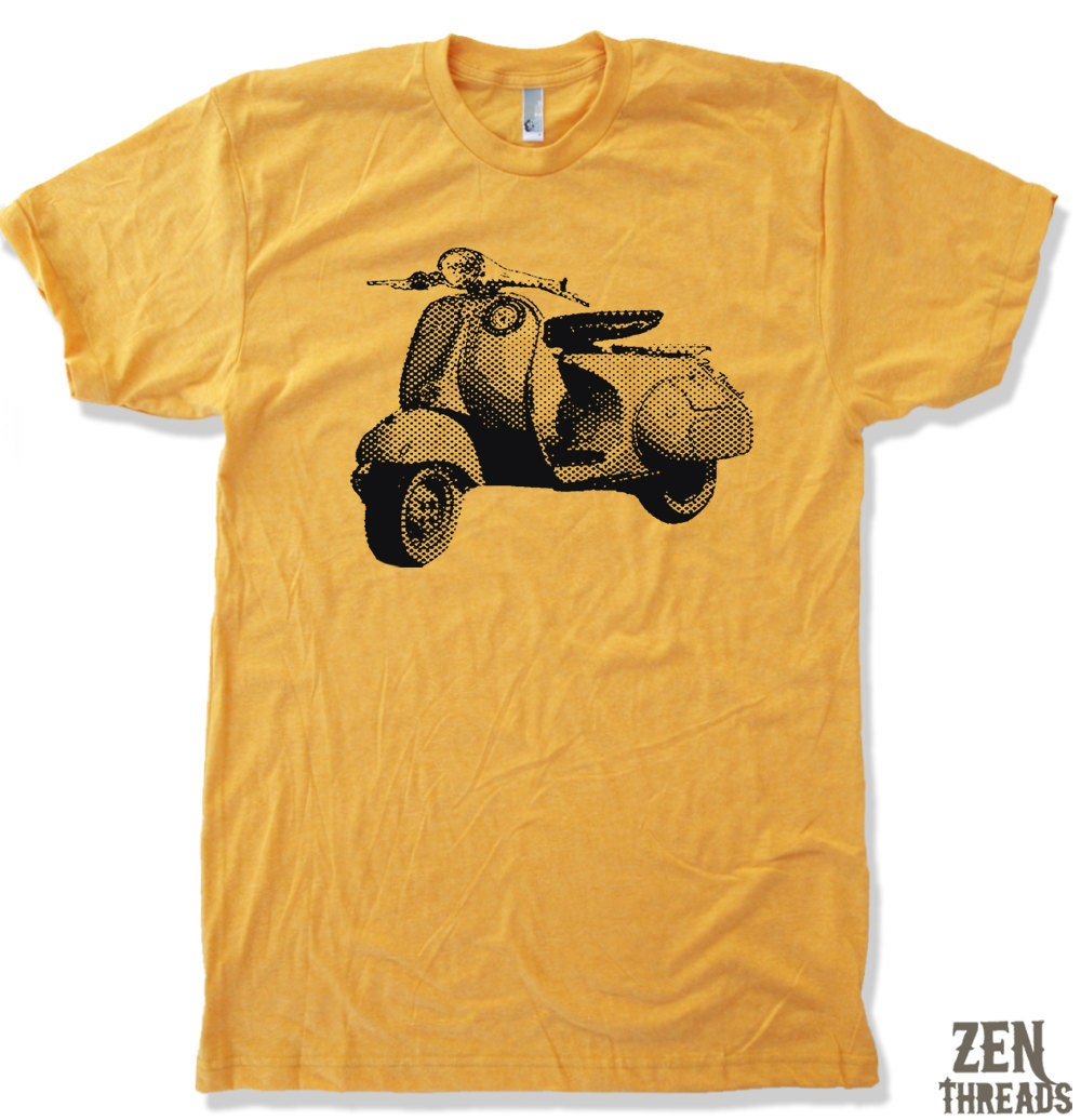 mens vintage vespa american apparel t shirt s m l xl by zenthreads. Black Bedroom Furniture Sets. Home Design Ideas