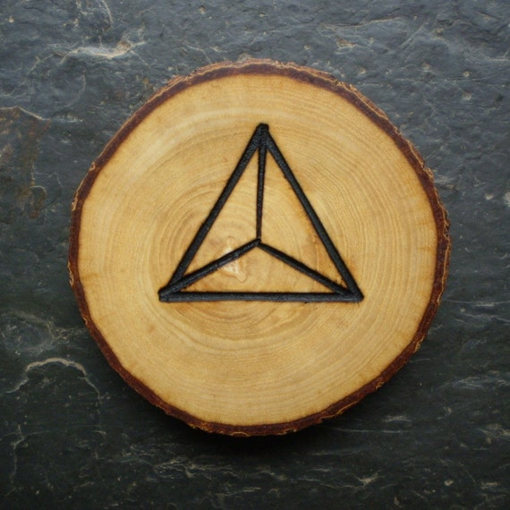 "Natural Wood Talisman - English Ash - ""Dragon's Eye"" Symbol for Protection."