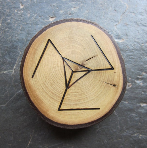Unique Natural Wood Talisman - Holly - Invoke the Protection of the Holly King.