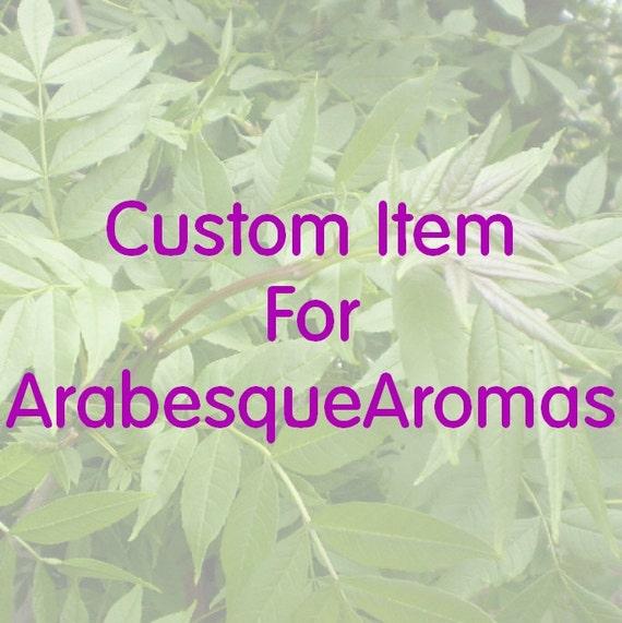 Custom Item for ArabesqueAromas.