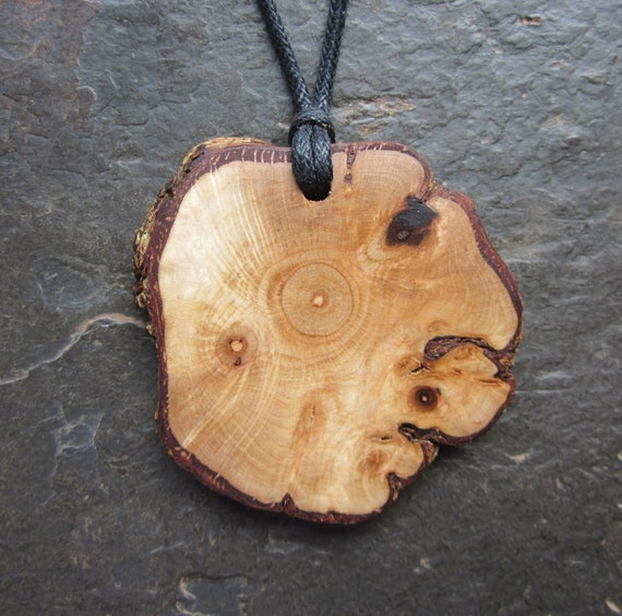 Reserved for Moontree13. Unique Natural Wood Pendant - Hazel - for Wisdom.