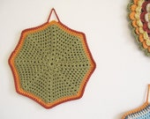 SALE - Olive... crochet pot holder