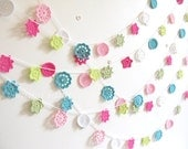 NEW Sylvie - Special Edition 'Homespun Style' Forever Flower Garland by Emma Lamb, colours handpicked by Selina Lake ...Ready to ship