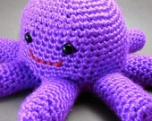 Ocho the Octoplush -  Purple Crocheted Octopus Amigurumi Stuffed Animal Creature