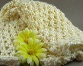 Buttercream Bamboo  Legwarmers - Hand-Knit Diamond Lace
