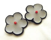 Hair clip.Leather flowers alligator hair clips set of 2