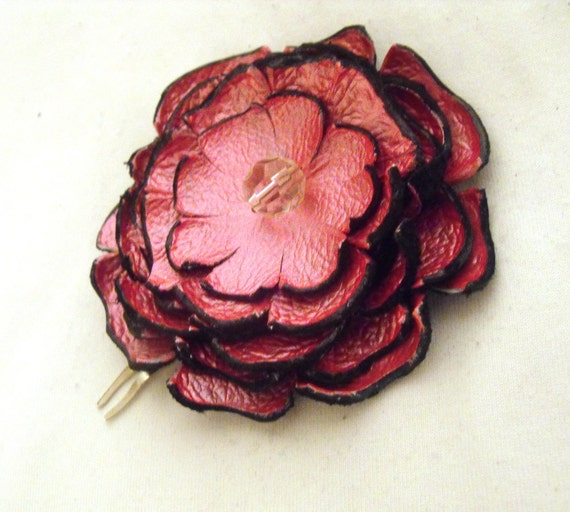 Flower hair comb Pink  1 pc