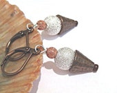 Ice cream cone earrings stardust beads