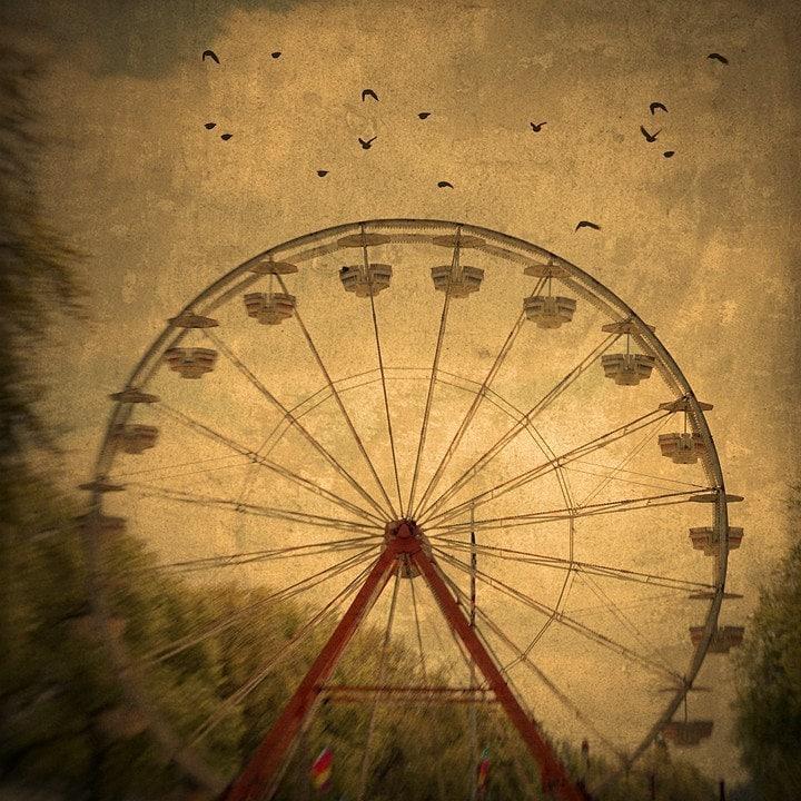 Ferris Wheel Art Dark Ride Nature Photography