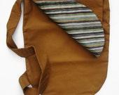 Reversible Brown Canvas Bucket Bag
