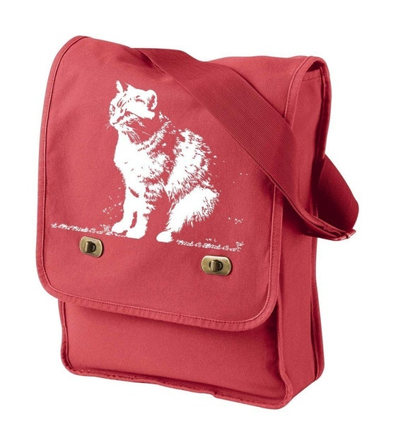 Abby Cat Canvas Field Bag offered in five great colors