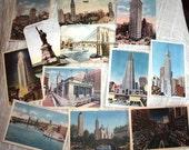 DEPOSIT - DaisyGossart1985 -  New York Landmark Set - Vintage New York Custom Place Card/ Escort Card