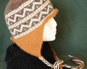 Wool Blend Earflap Hat