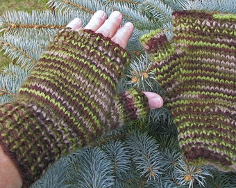 Camouflage Half-Mitts - Size Large