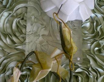 1950's White Silk Rose