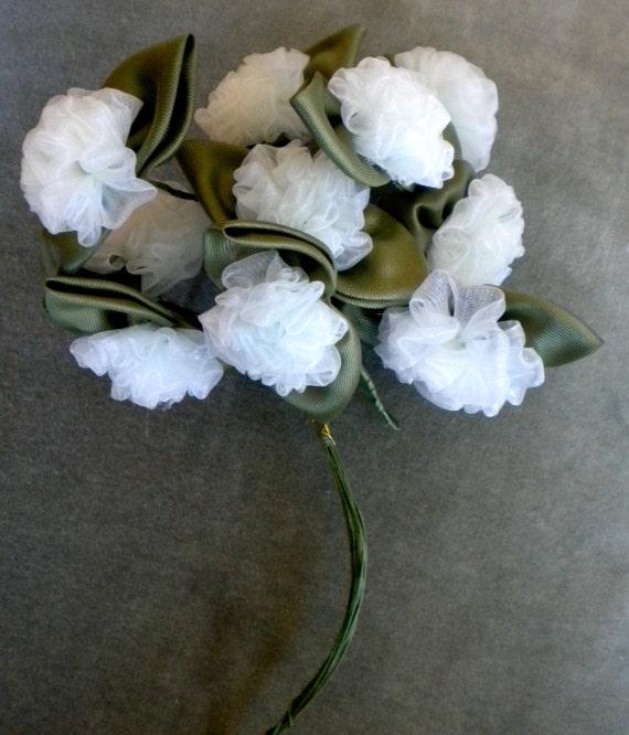 Pretty Bouquet of Pale Blue Nylon Flowers