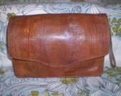 Vintage 70s Lizard Skin Clutch Bag