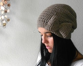eco friendly .  slightly slouchy bow beanie . PICK YOUR COLOR .