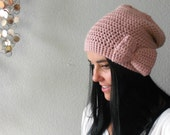 Eco-Friendly slightly slouchy bow beanie PICK YOUR COLOR