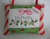Small Handpainted Christmas Pillow